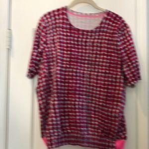 Tory Burch short sleeve sweater size XL